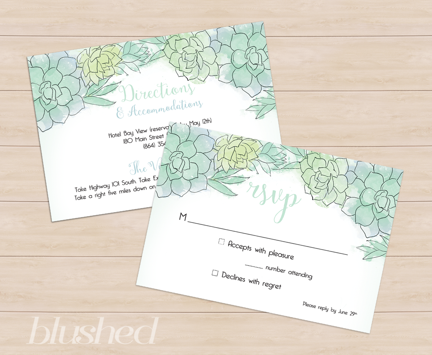 desert succulent wedding stationery succulent wedding invitations As usual this wedding invitation suite has coordinating RSVP cards direction and accommodation cards wedding programs table numbers and thank you cards