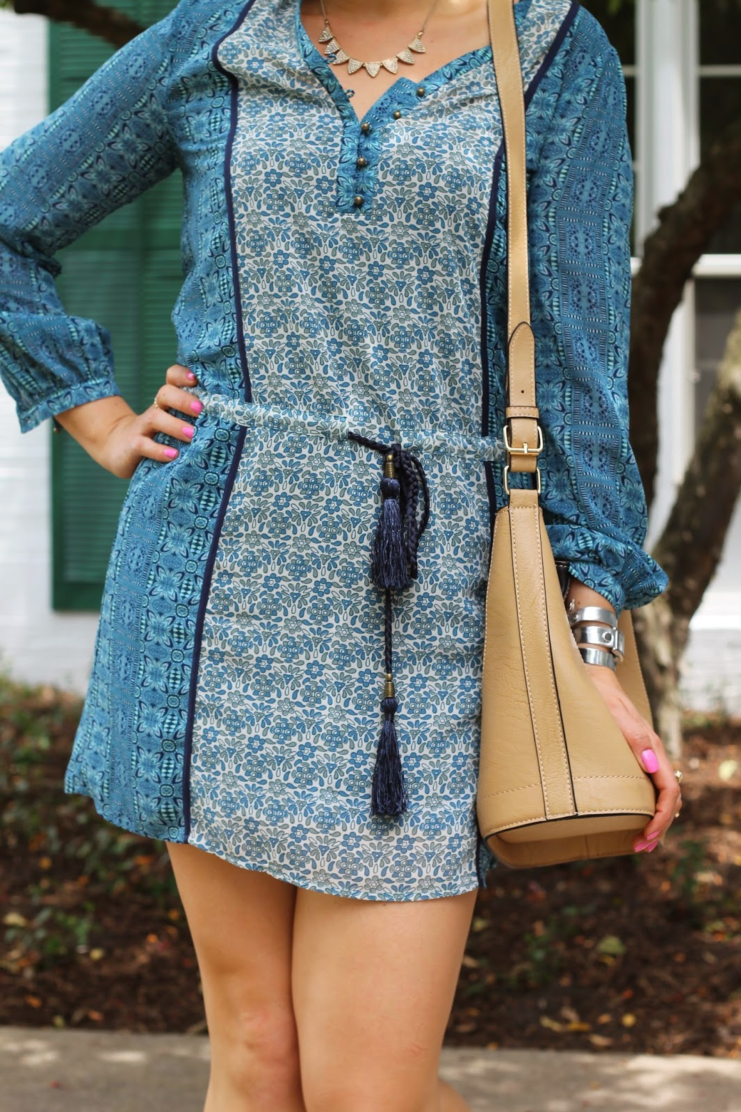 la, vie, boho, dress, forever, 21, Tilda, Sole, Society, asos, bucket, bag