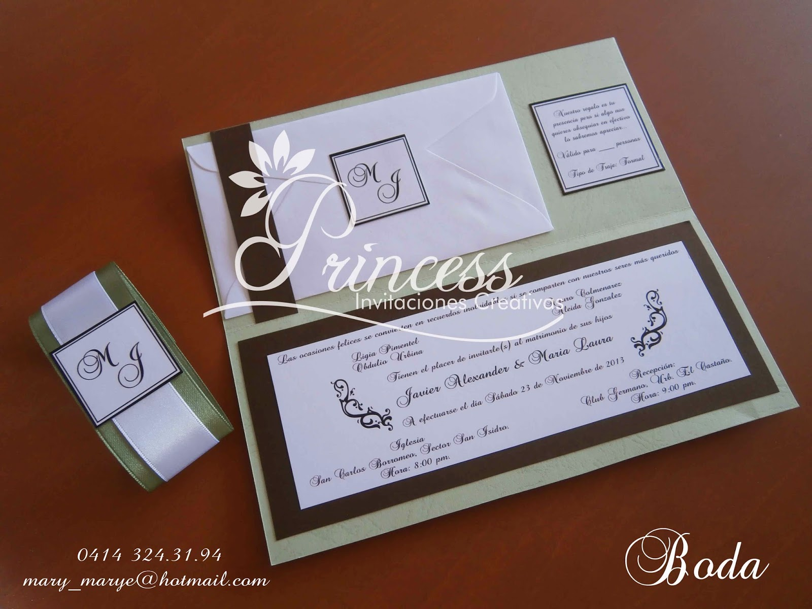 estas fueron realizadas para la boda de nuestra clienta mara laura llena de mucha sobriedad y elegancia contienen el sobre