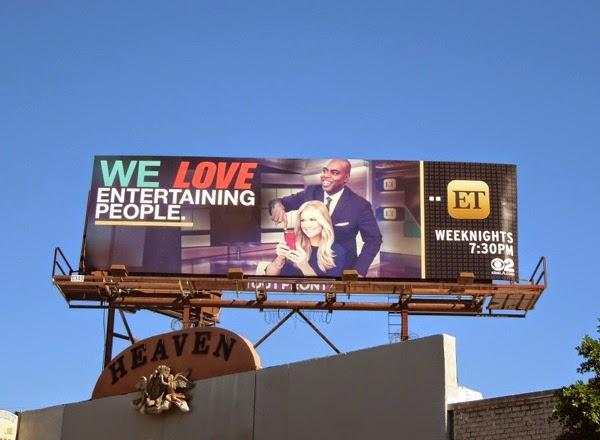 ET love entertaining people billboard