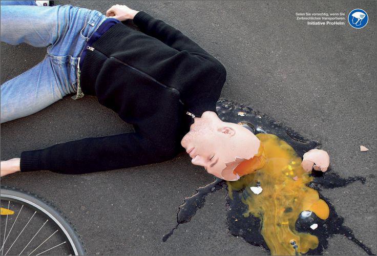 Manipulerende tysk kampagne, om hovedet som et meget skrøbeligt knækket æg