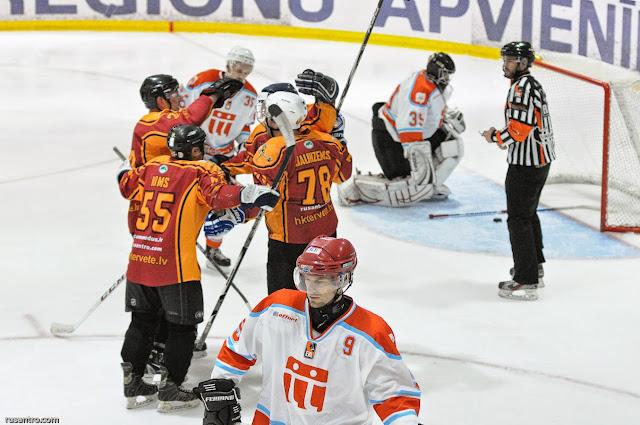 EHL RZ divīzijas spēle starp HK Tērvete un HK Lattelecom