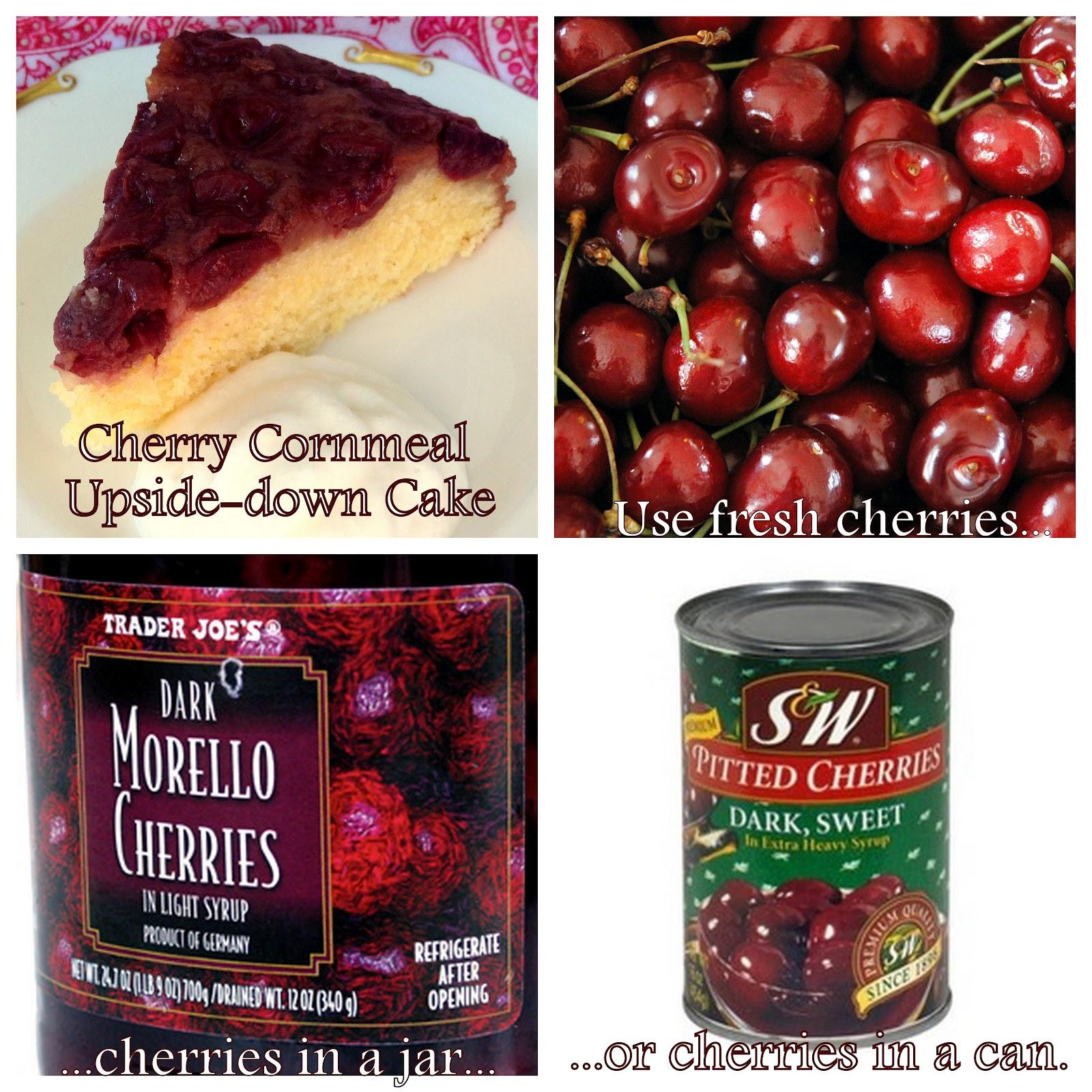 Jennuine by Rook No. 17*: Skillet Cherry Cornmeal Upside-down Cake