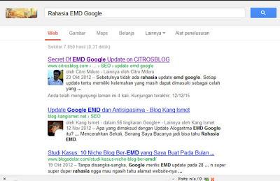Rahasia EMD Google
