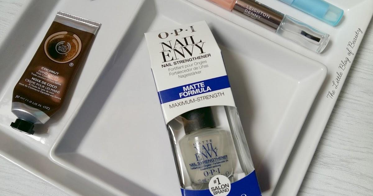 OPI Nail Envy nail strengthener Matte formula | The Little Blog of ...