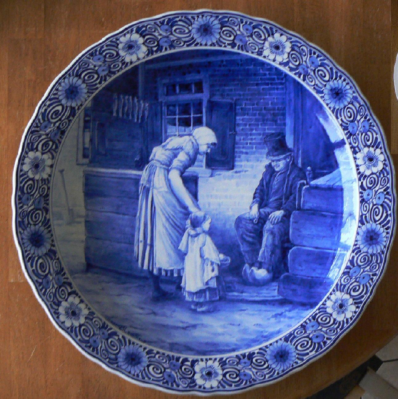 Blauwe Keuken Delft : Delfts Blauwe Keuken : Delfts blauwe behang huisjes (3)