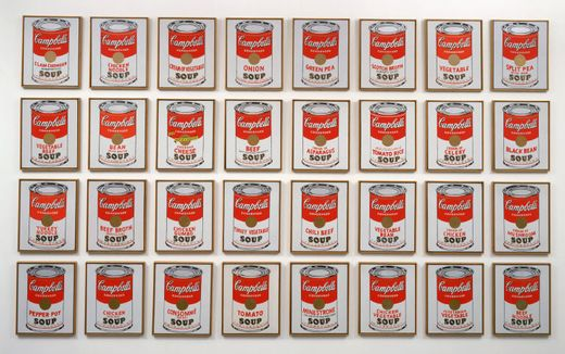 Warhol, boites campbell soup