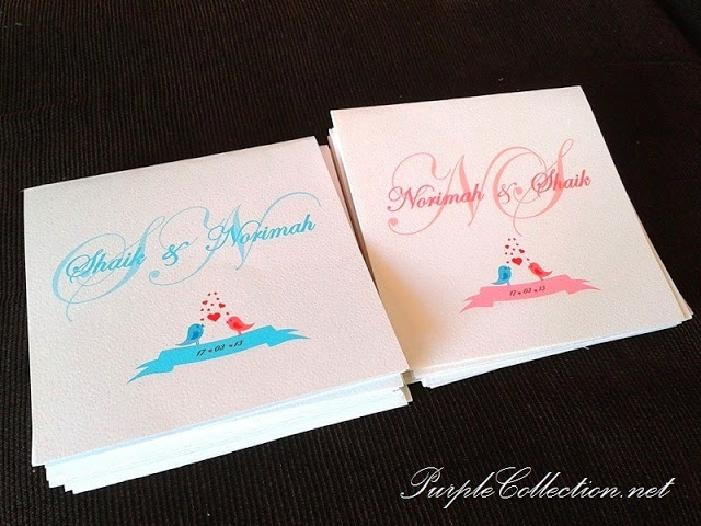 Love Birds Wedding Invitation Cards, wedding invitation cards, malay wedding cards, one fold card, dapple card, love birds wedding, love birds wedding card, wedding