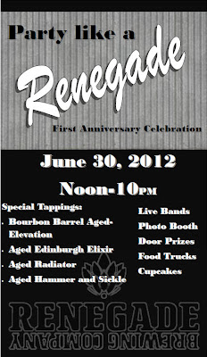 Renegade Brewing Party Poster