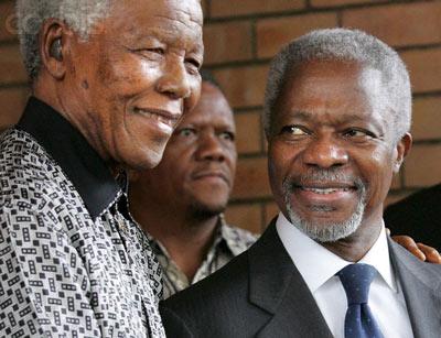 Nelson Mandela and Kofi Annan