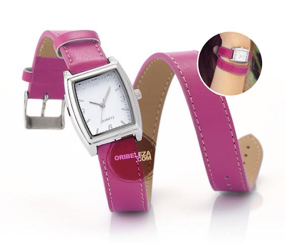 Relógio Colorful Wrap da Oriflame com Bracelete Comprida