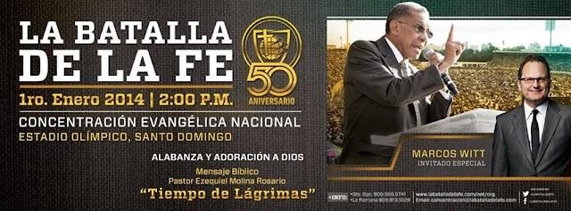 En Santo Domingo, miércoles 1ro.enero concentración evangélicos Estadio Olímpico.