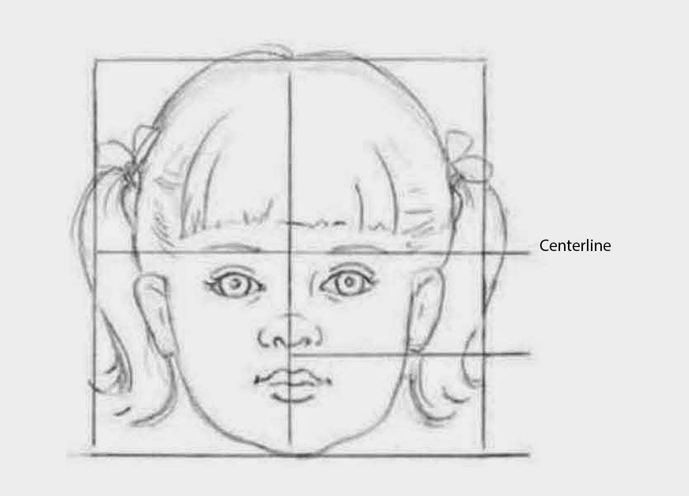 Line Drawing Of Child S Face : Drawings children s facial proportions