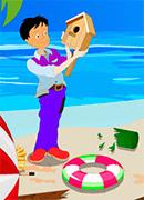 Пляжная уборка - Онлайн игра для девочек