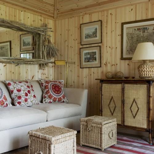 Fotos de salas r sticas ideas para decorar dise ar y - Diseno casa rustica ...