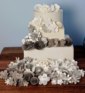 wedding cake grey silver gray wedding theme