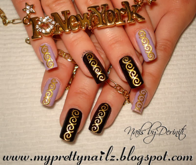 My Pretty Nailz: Super Easy & Edgy Nail Art Design & Video Tutorial ...