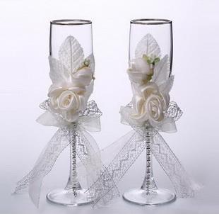 Decora tus copas para boda foro manualidades para bodas - Copas decoradas con velas ...