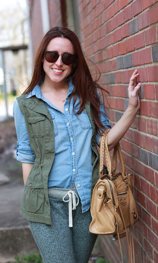 Here & Now : chambray + utility vest