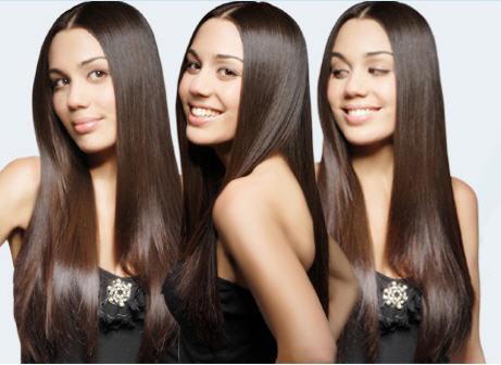 rambut wanita model rebonding