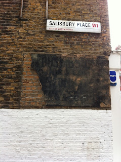 Ghost sign on the corner of Salisbury Place, London W1