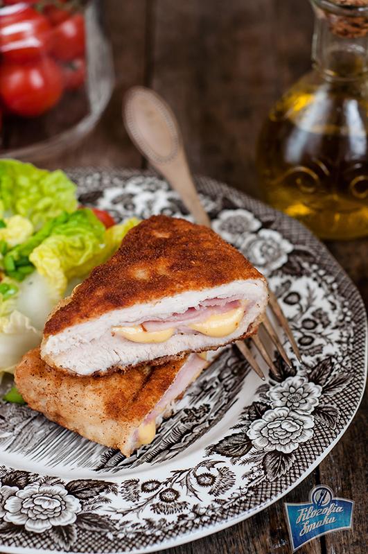 Piersi z kurczaka z serem i szynką