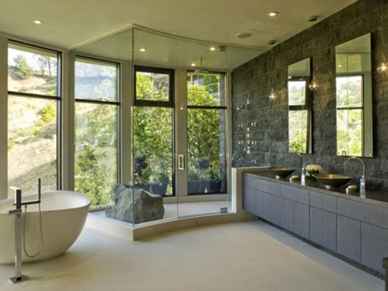 baconafterdark: contemporary bathroom design title=