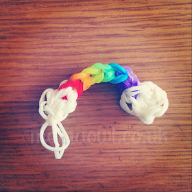 Loom band rainbow charm