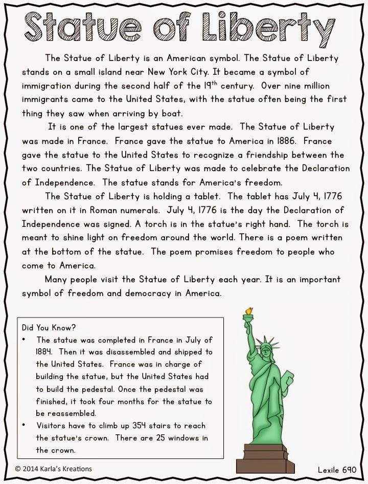Karlas Kreations National Symbols Informational Text