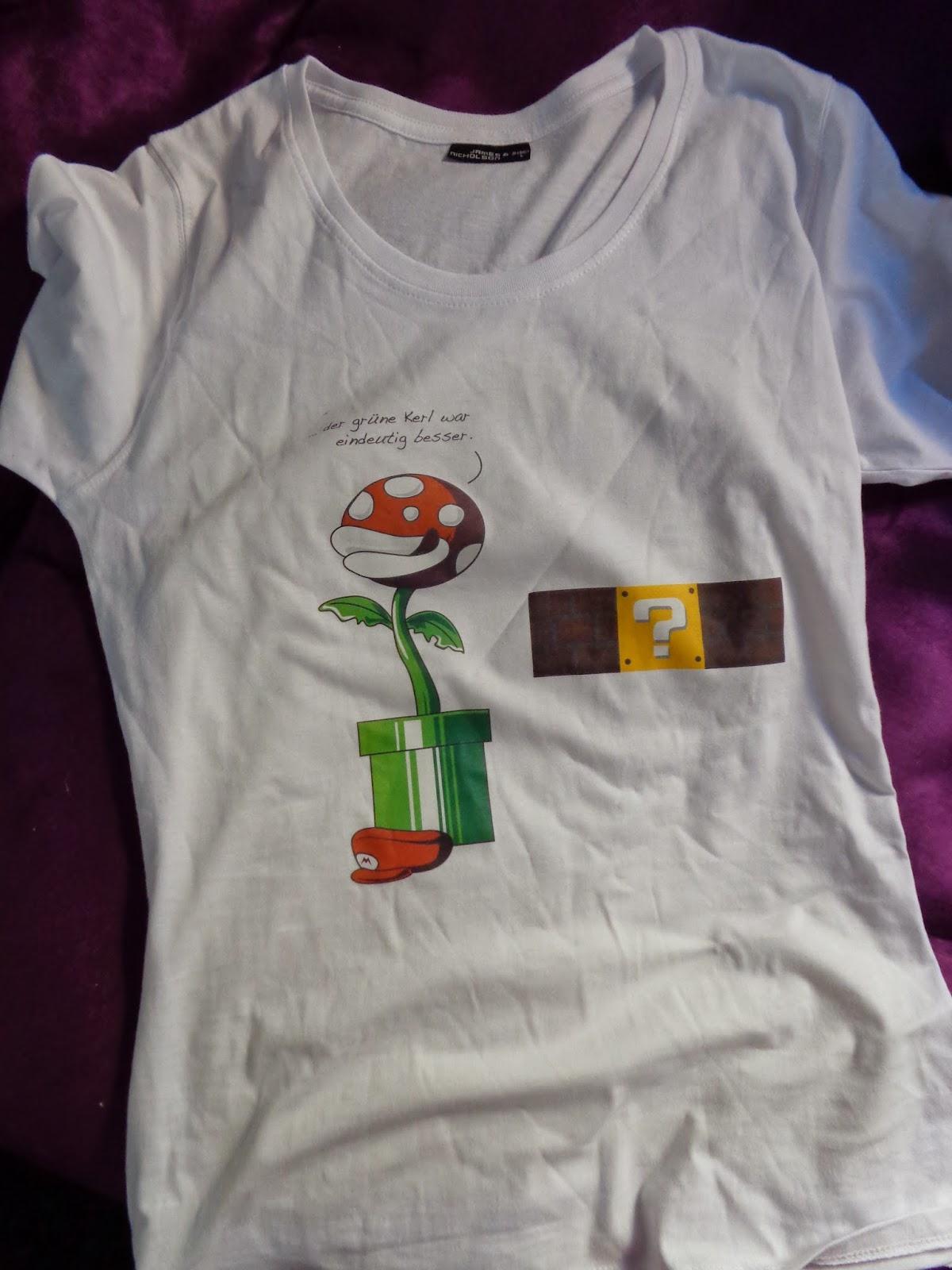 Designer-Shirts; Super Mario; Luigi; Online-Shop