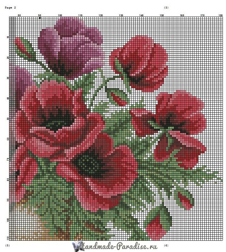 Вышивка крестом схемы цветы в вазе 73