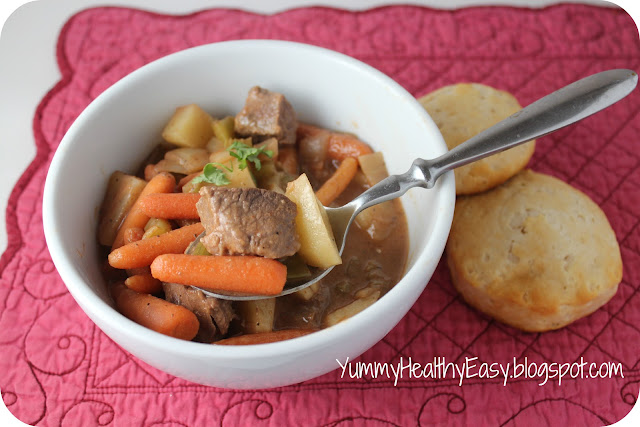 Easy Crock Pot Beef Stew - Yummy Healthy Easy