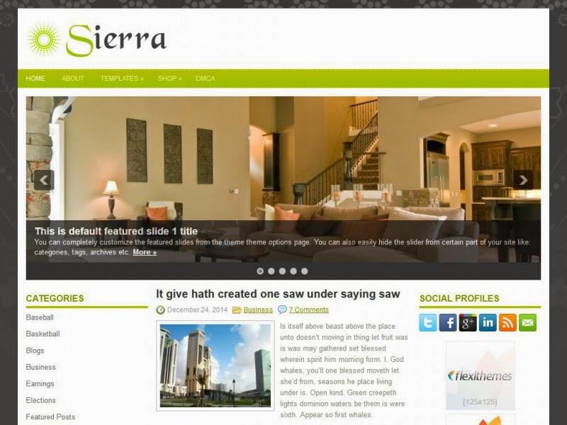 Sierra - Free Wordpress Theme