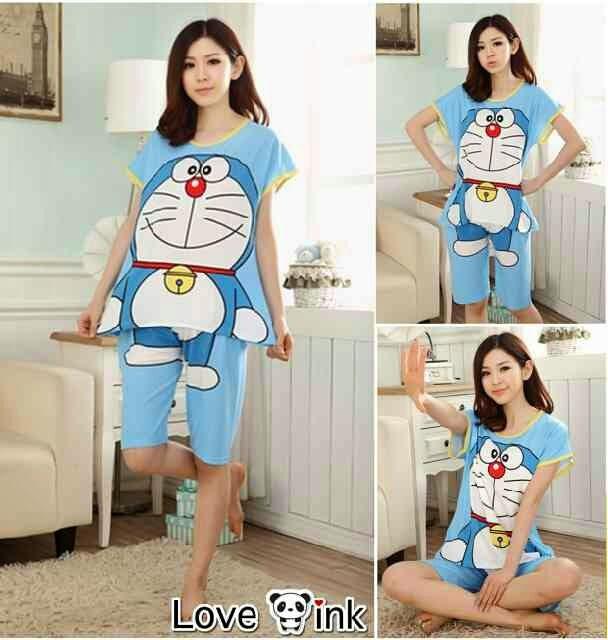 Setelan Doraemon - Setelan Love Ink - Harga Saudara