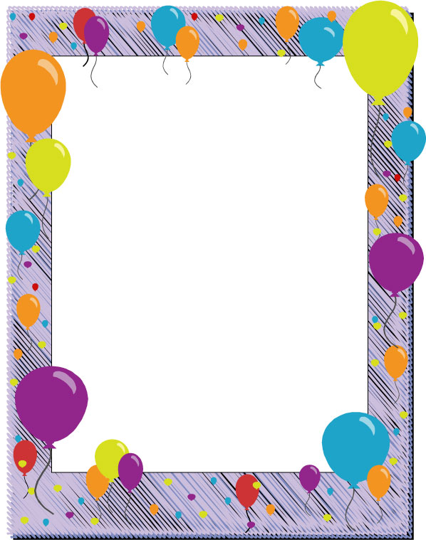 Balloon Designs Pictures Borders Clipart