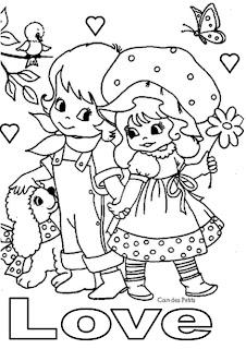 imagens para colorir namorados - Desenhos do Dia dos Namorados para colorir