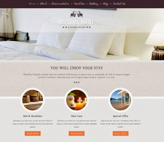 imperial - Hotel WordPress Theme