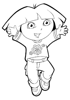 dora coloring pictures