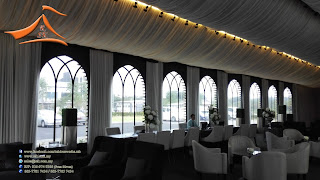 Our client request for side wall with french window for Marquee Tent. This french window side wall will be different from the normal one and will required time to do it.