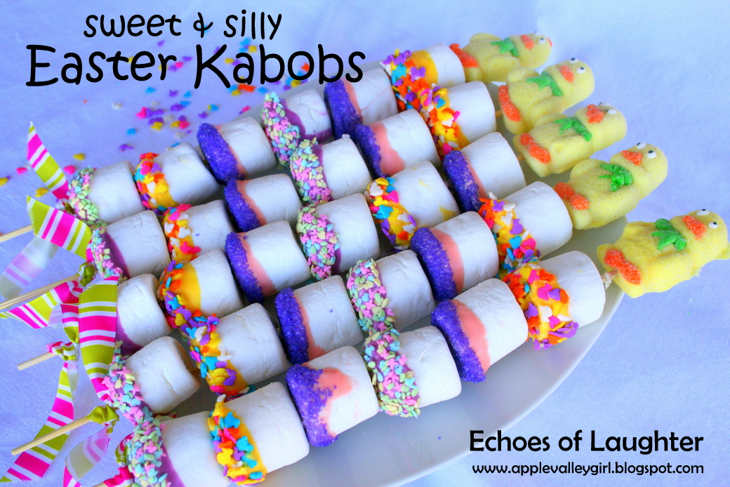 Charlys room sweet silly marshmallow kabobs for easter these would be so fun to make give to a childs class at school or a sunday school class negle Choice Image