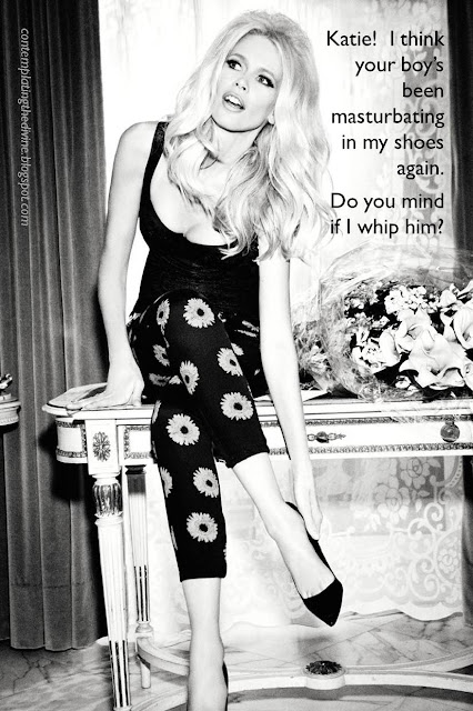 Glamour femdom blonde