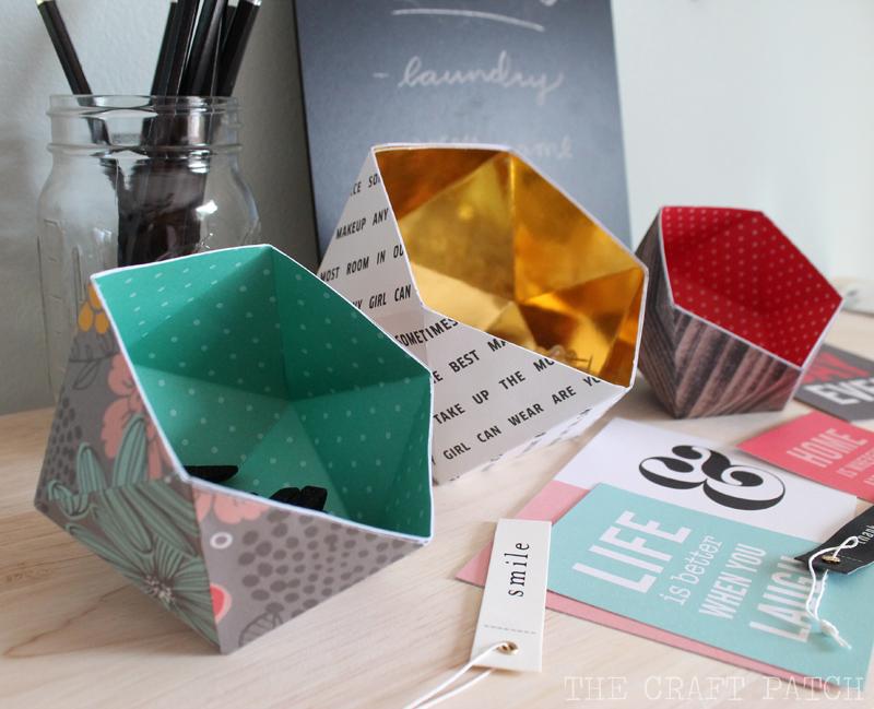 Diy Geometric Bowls Thecraftpatchblog