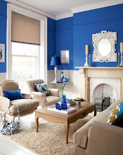 desain Interior biru