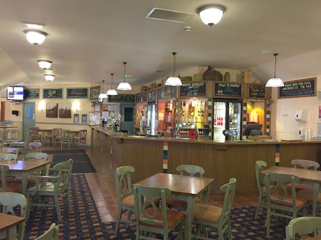 The bar at Hillhead Caravan Club site