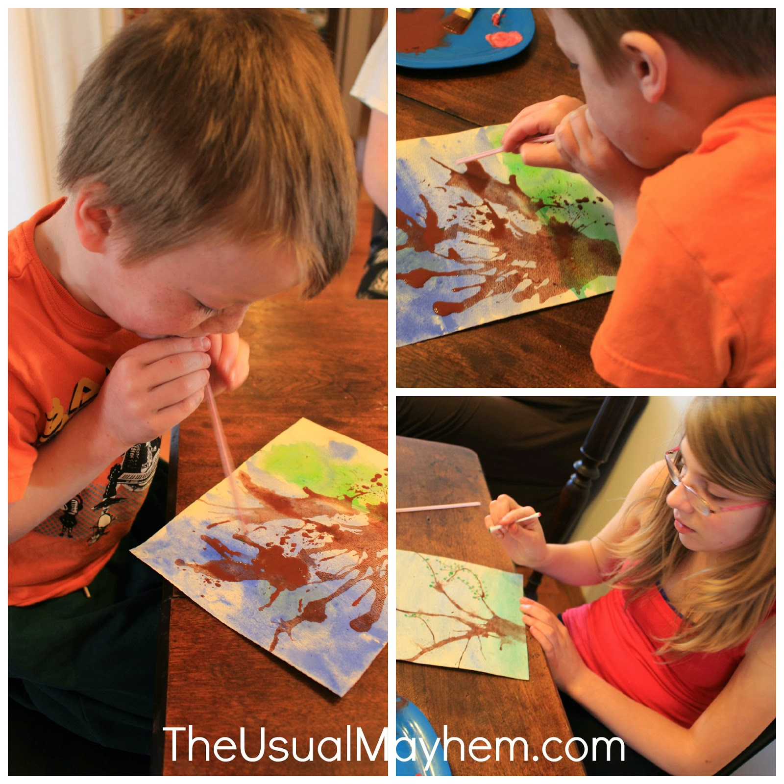 spring watercolor art lesson