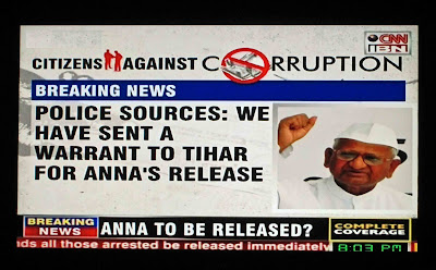 Anna Hazare's release from Jail announced