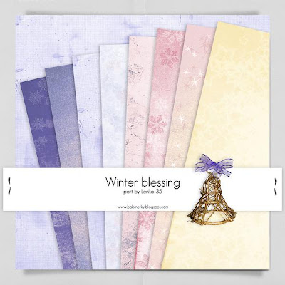 Winter Blessing Papers by Lenka-35 Megakit Part