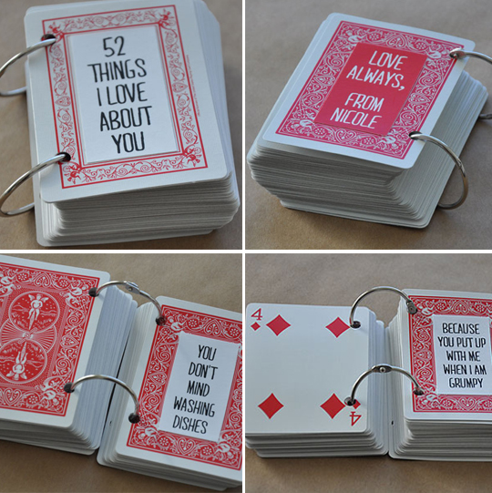 presente para o dia dos namorados, baralho, customizacao, valentines