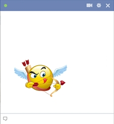 Cupid smiley for facebook chat
