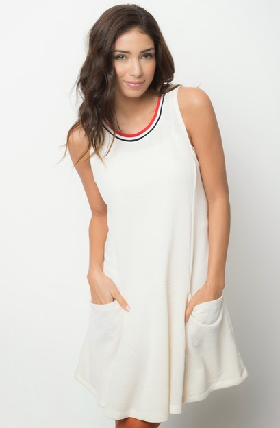 french terry a-line dress for women on sale